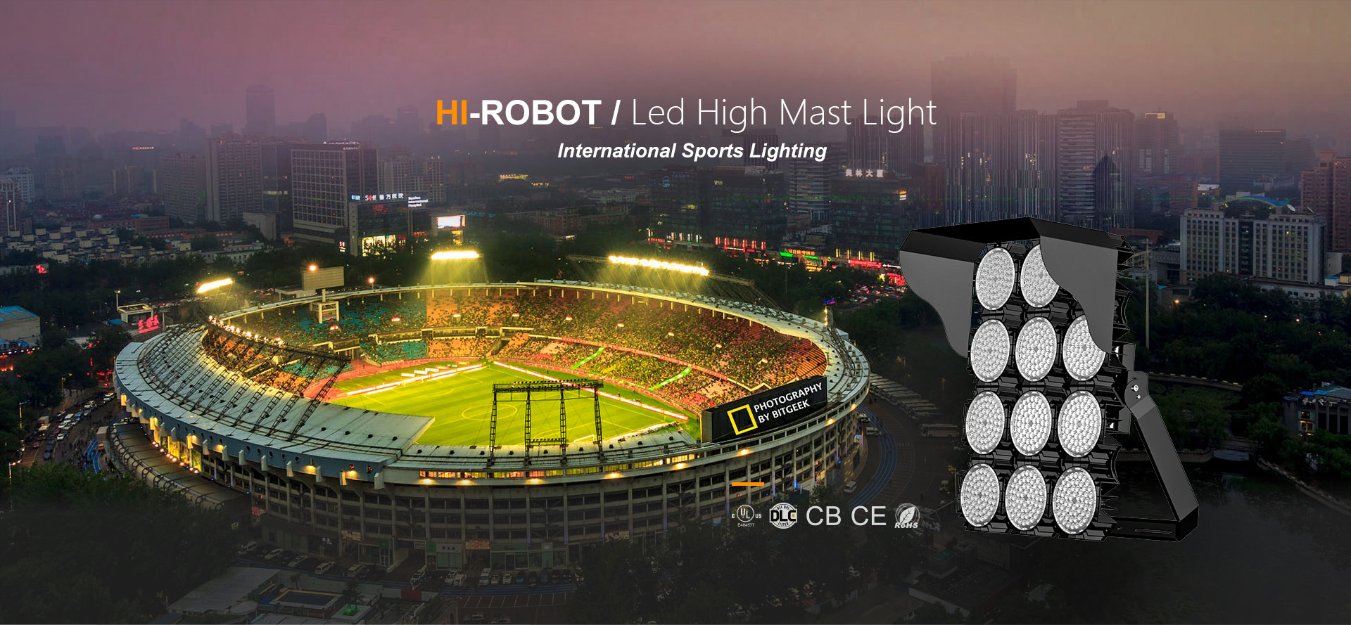 Hi-Robot LED High Mast Light 1300W