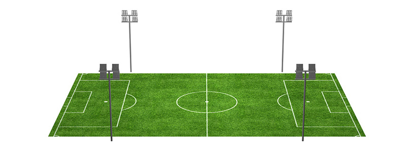 Football-Stadium-Lighting-Four-Poles-in-Center