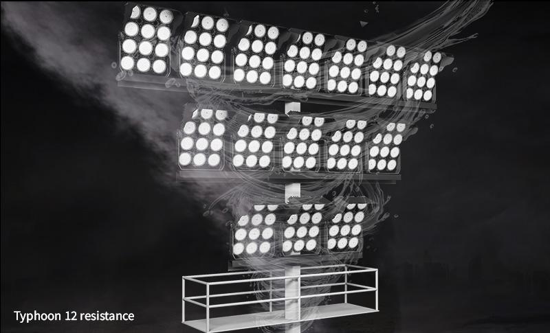 Hi-Robot series LED stadium lights Typhoon 12 resistance