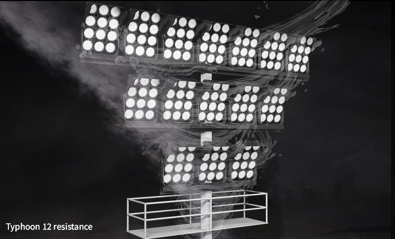 Hi-Robot LED stadium light Withstand wind