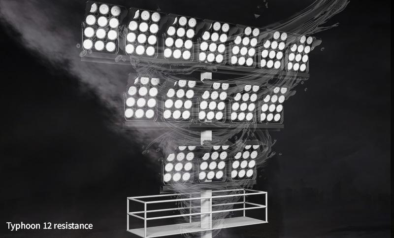 Hi-Robot LED stadium light Withstand wind