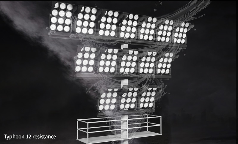 Hi-Robot LED tennis court lights Withstand wind