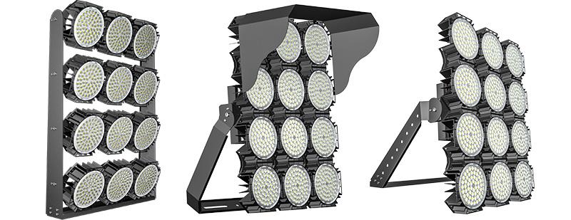 Hi-Robot LED tennis court lights  Multiple Mounting Options