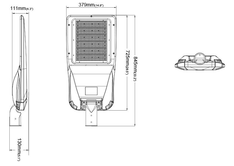Hi-Slim Led Street Light Product  Specifications