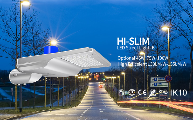Hi-Slim LED Street Light 45W 75W 100W