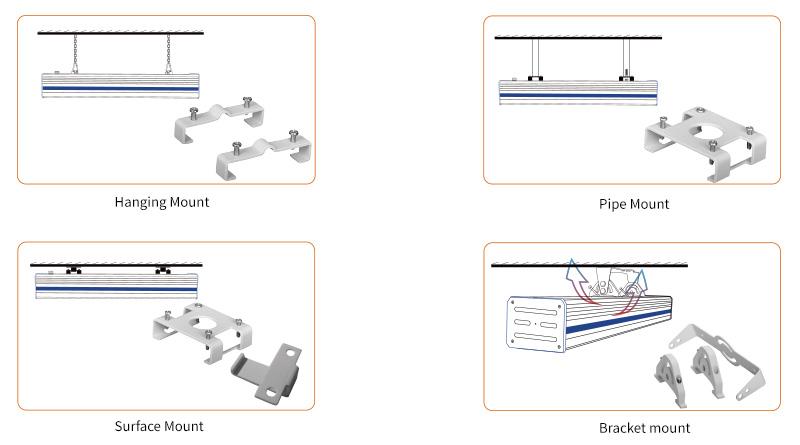 K1 LED Linear High Bya Light Multiple Mounting Options
