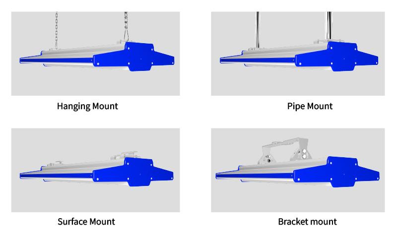 K2 LED Linear High Bay Light Multiple  Mounting Options