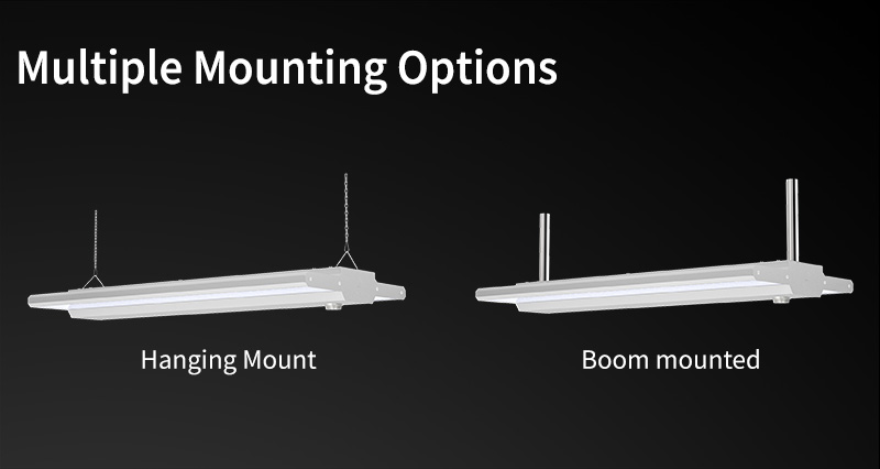 Educational Linear High Bay Light Multiple Mounting Options