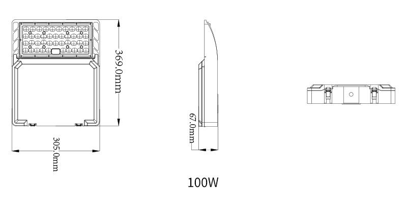 Hi-Talent LED shoebox light Product  specifications