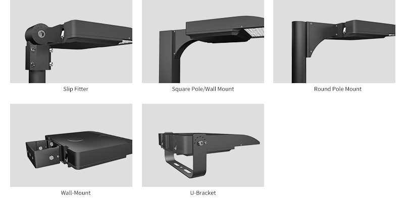 Hi-Talent LED shoebox light Multiple  Mounting Options