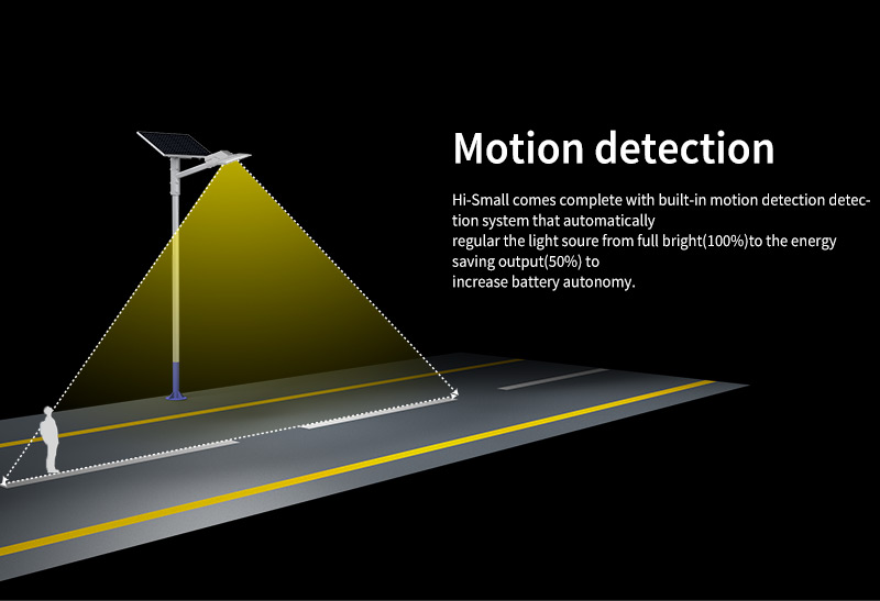 Hi-Small Led Solar Street Light Motion detection