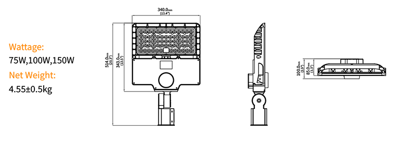 Hi-Sun Led parking lot light Product specifications