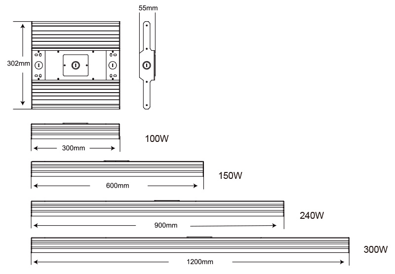 K6 LED Linear High Bya Light Product  specifications