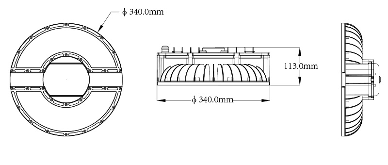 Hi-Smart H3 LED UFO High Bay Light Product specifications