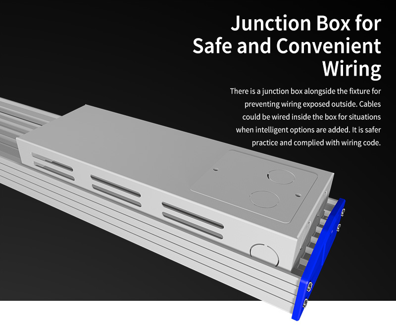 K4 LED Linear High Bya Light Junction Box for Safe and Convenient Wiring
