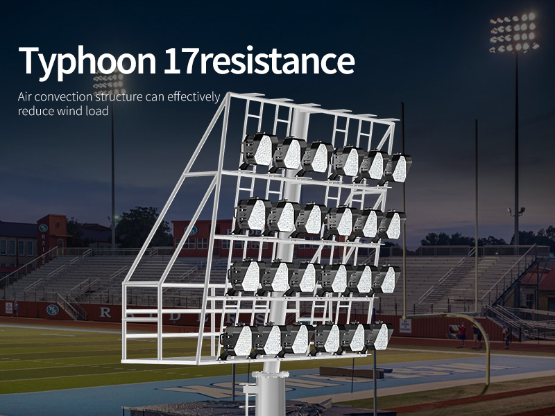 Hi-Shoot LED Stadium Light Anti 17-level Wind Power
