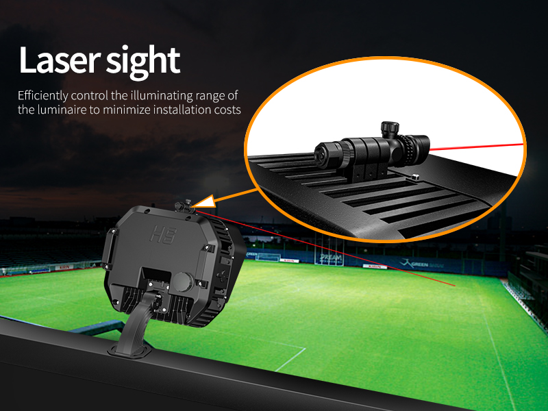Hi-Shoot LED Stadium Light Laser sight