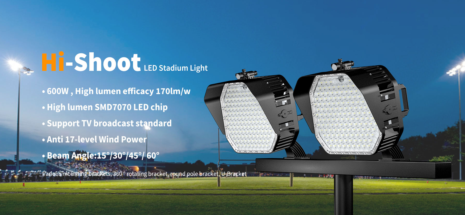 600W Hi-Shoot led stadium light