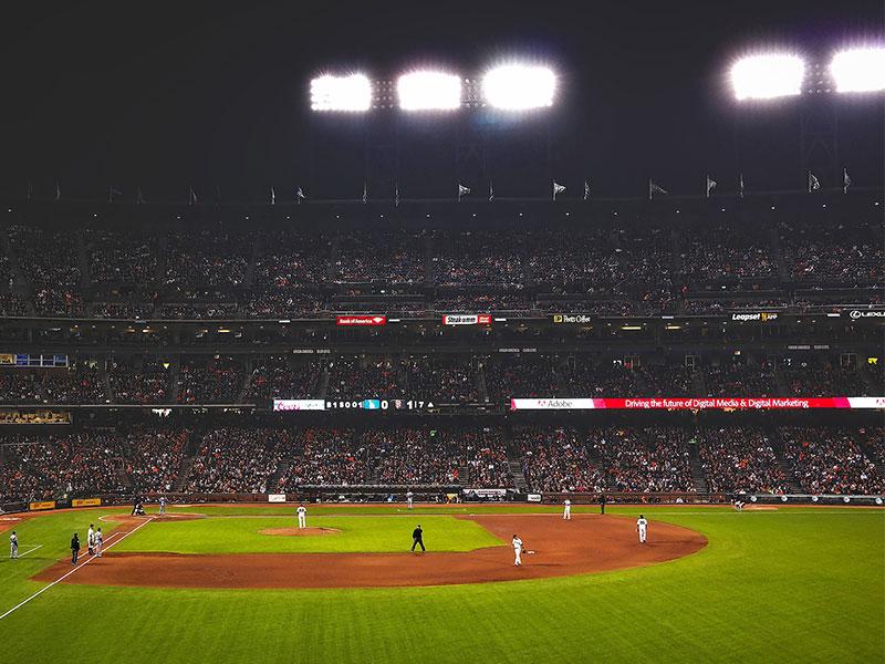 Baseball field lighting case