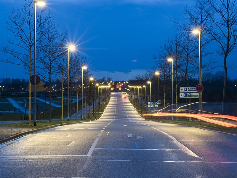 Hi-Slim LED Street Light 100W Street lighting project