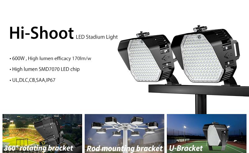 Hi-Shoot is a high-power LED stadium light