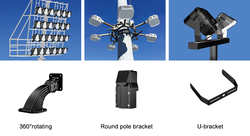 LED Football field light Multiple installation