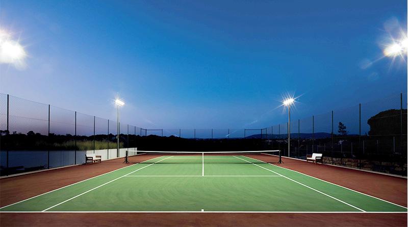 Club tennis court lighting