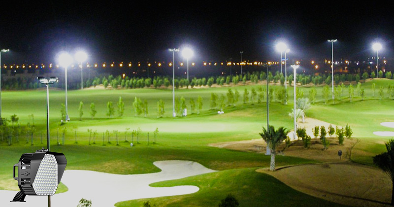Lighting cost of golf course