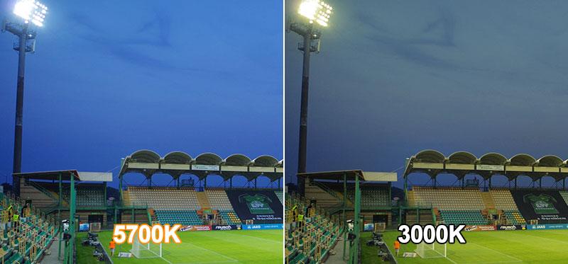 Football Stadium Lighting The standard of color temperature (CCT)