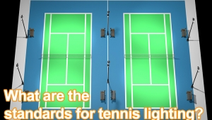 What are the standards for tennis lighting?