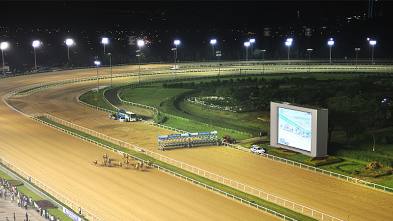 How to light up the racecourse