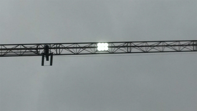 Construction site lighting solution-LED high pole lights