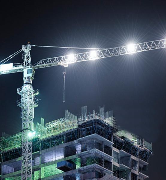 Construction site lighting solution-LED high pole lights