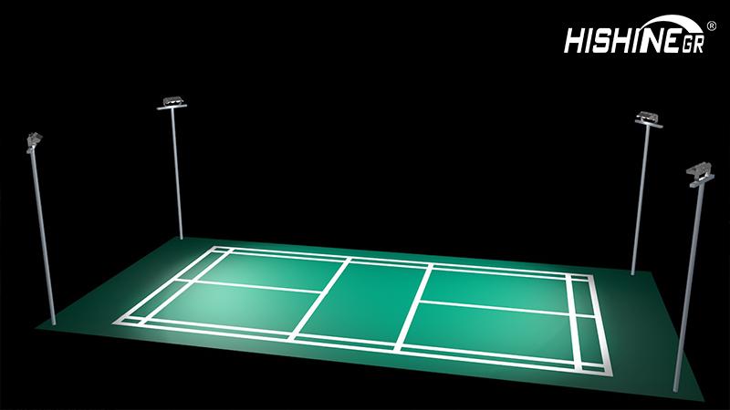The Standard of Tennis court led light