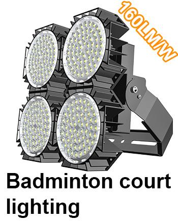 Badminton court lighting Bright enough