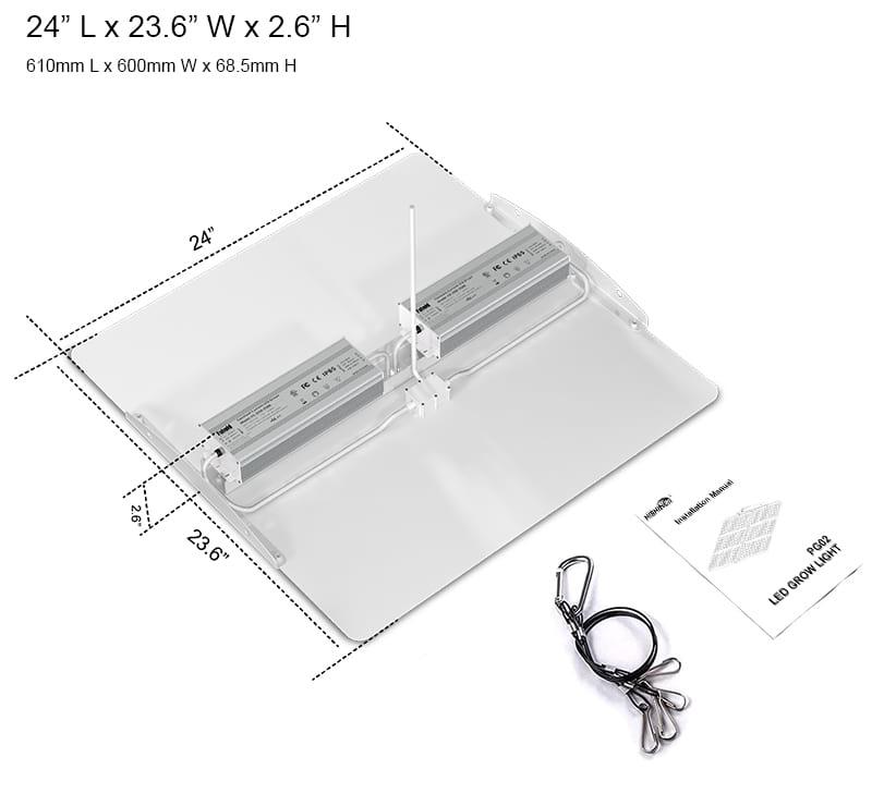 600 Watt Quantum Board Grow Light specifications