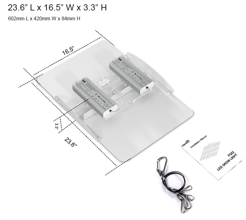 PG02 400W LED grow light specifications