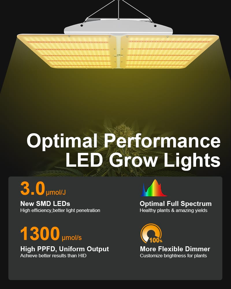 Optimal Performance LED Grow Lights