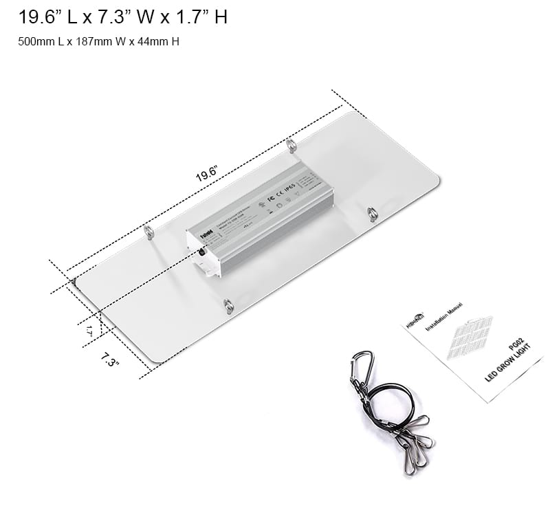 PG02 200W LED grow light specifications