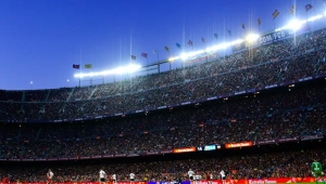 What kind of lights are used in the stadium?