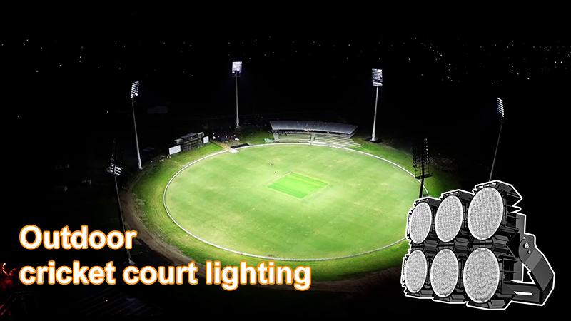Outdoor cricket court lighting design