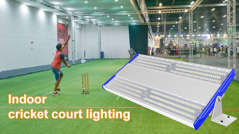 Indoor cricket court lighting design