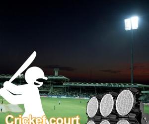 Cricket field stadium lighting