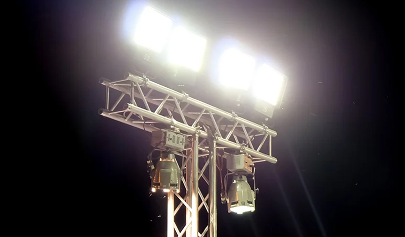 New high-efficiency LED stadium lights