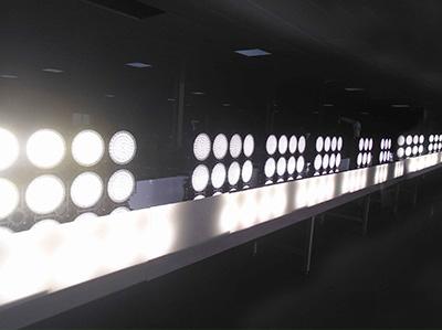 Stadium lights aging line