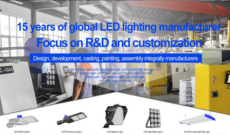 China led stadium lights manufacturer's top ten