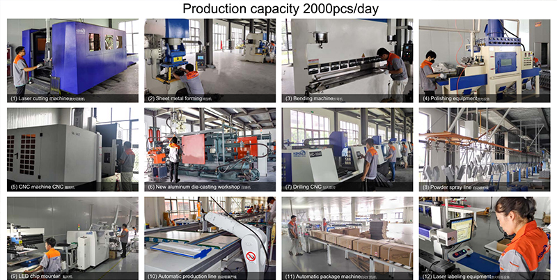 40,000 square LED lighting manufacturing factory | Support ODM OEM