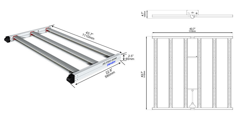 PG03 600W LED Grow Light Specifications