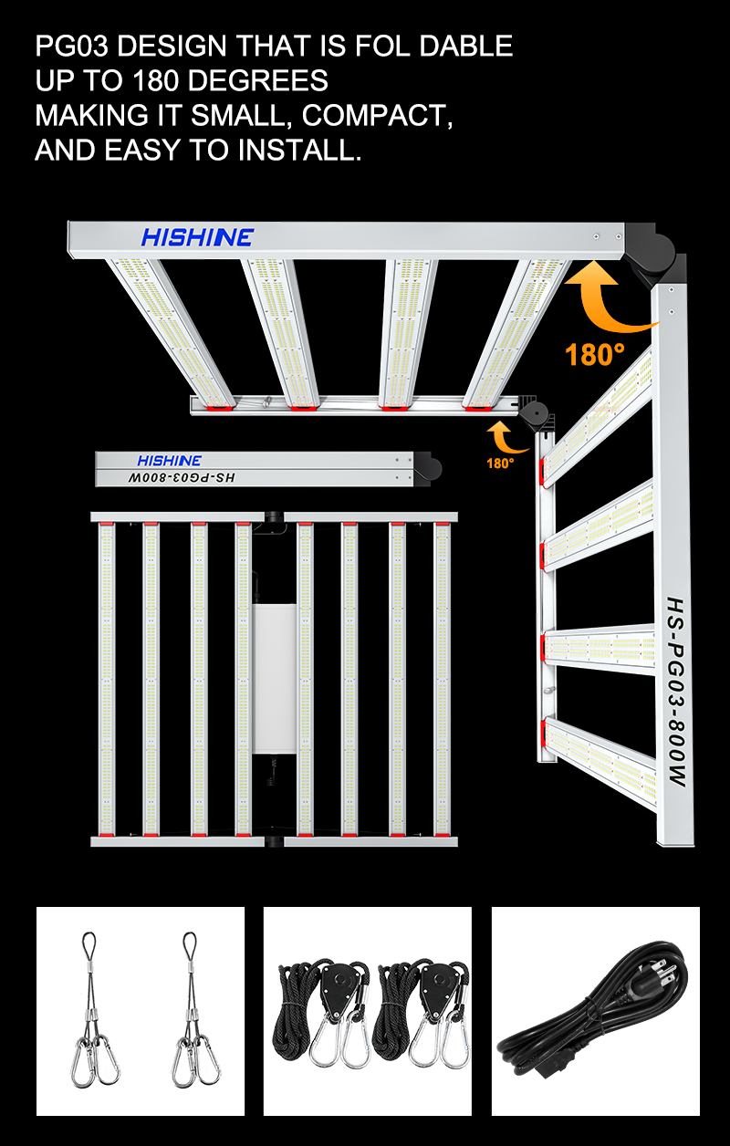 PG03 800W LED Grow Light AND EASY TO INSTALL
