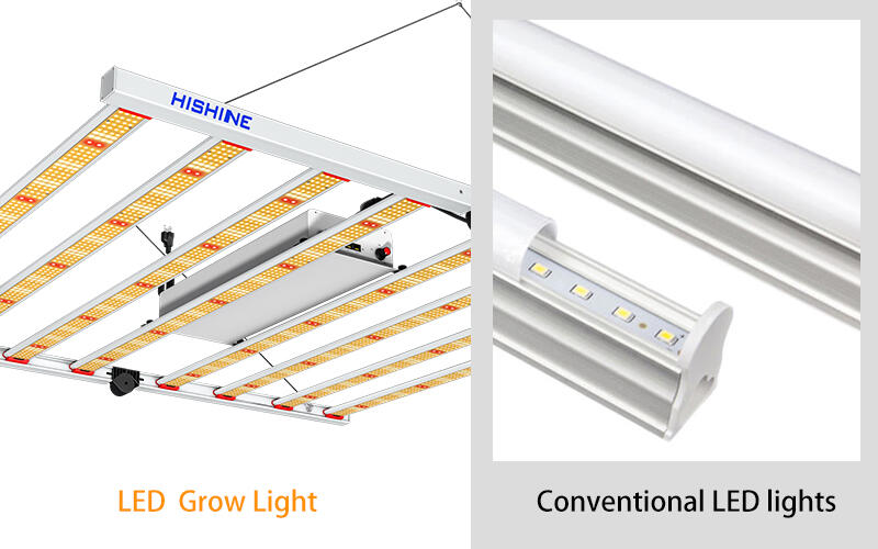 The Difference between growth and regular LED light: